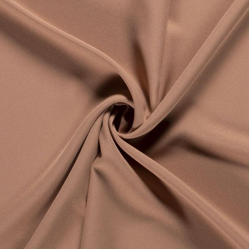 Tissu-polyester-uni-camel-rosé