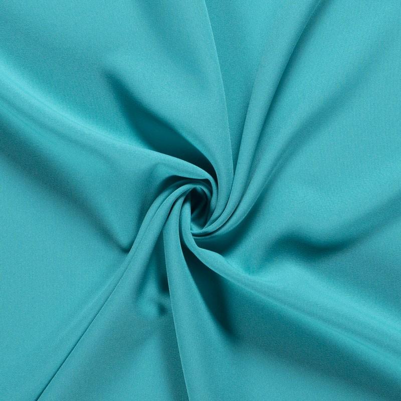Tissu-polyester-uni-turquoise