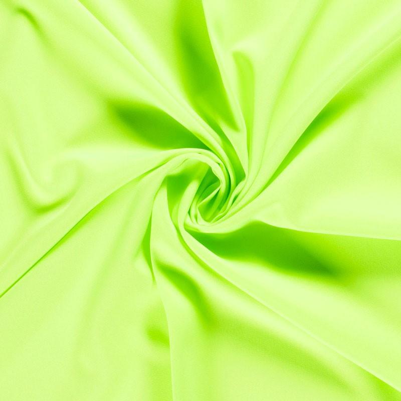 Tissu-polyester-uni-vert-fluo