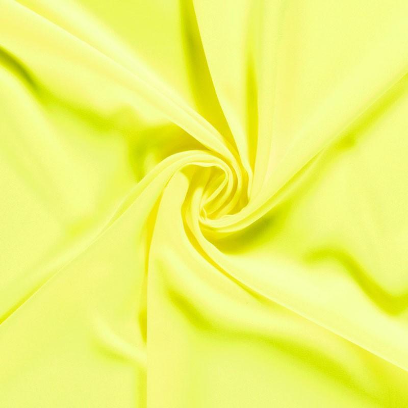 Tissu-polyester-uni-jaune-fluo