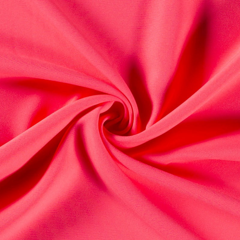 Tissu-polyester-uni-rose-fluo