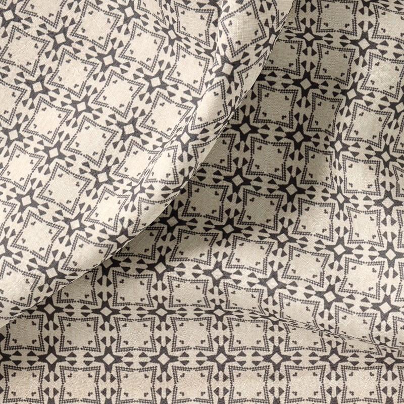 Tissu-coton-beige-gris
