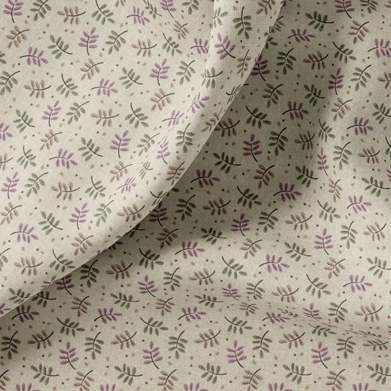 Tissu-coton-beige-Feuille