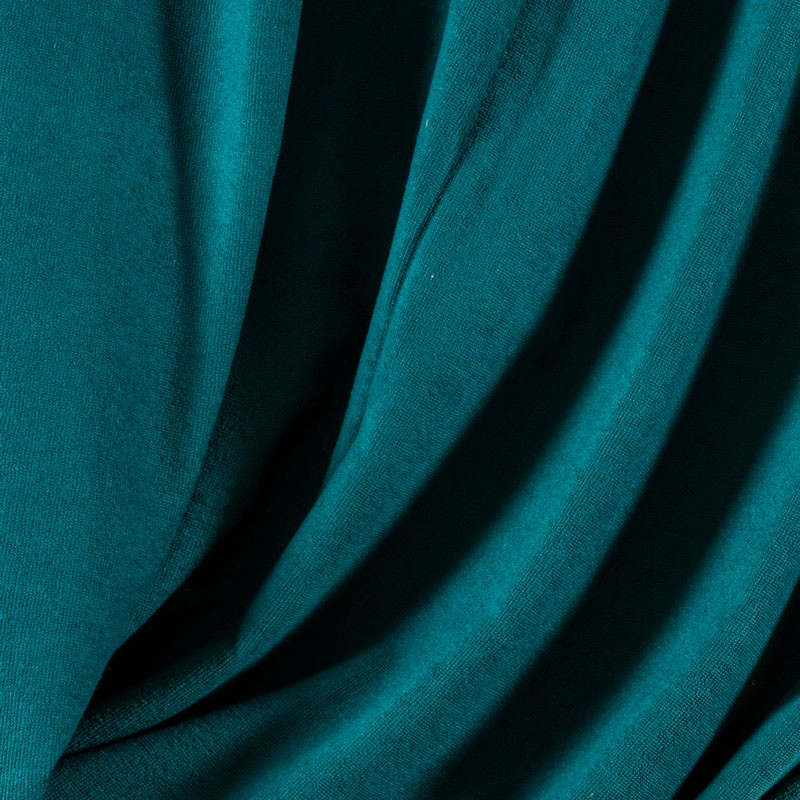 Tissu-éponge-bamboo-bleu-pétrole