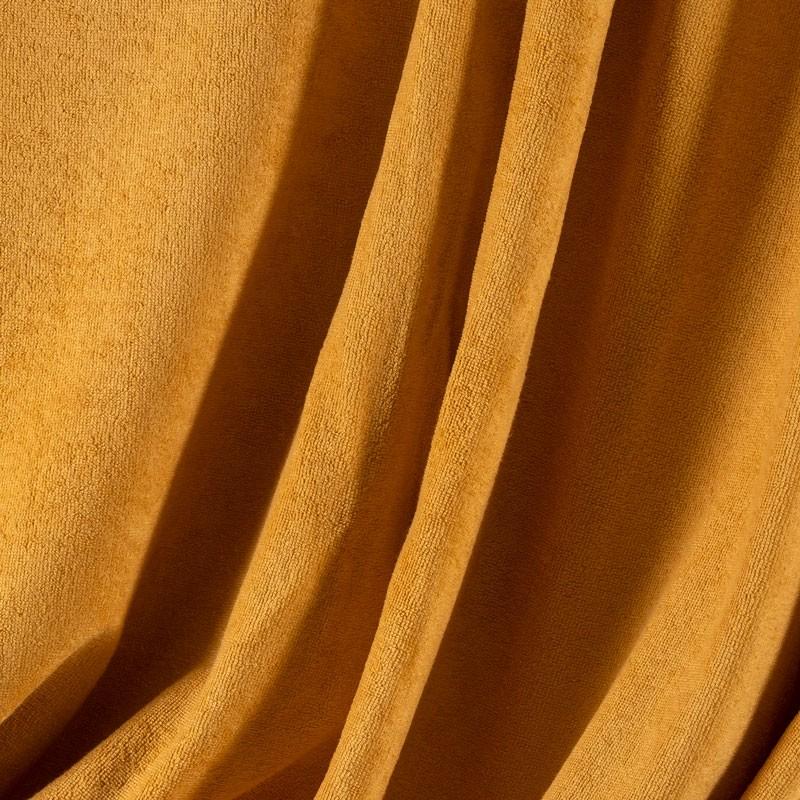 Tissu-éponge-bamboo-moutarde