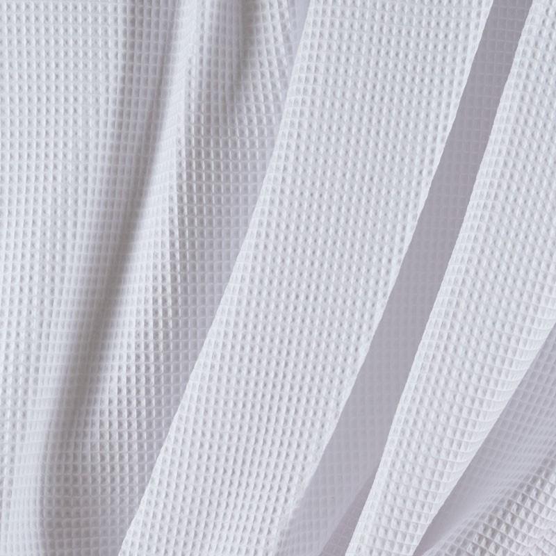 Tissu-coton-nid-abeille-blanc