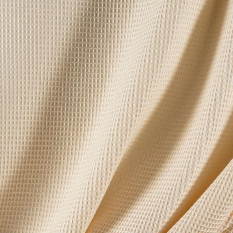 Tissu-coton-nid-abeille-écru