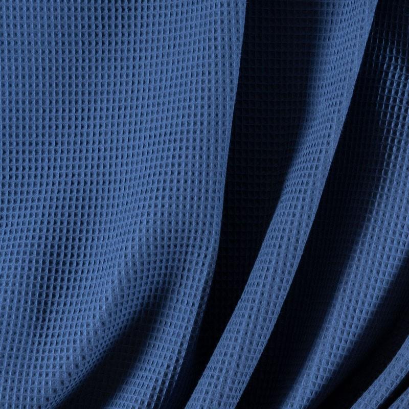 Tissu-coton-nid-abeille-bleu-indigo