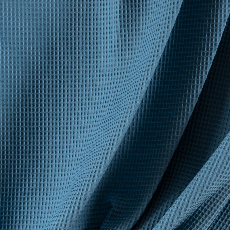 Tissu-coton-nid-abeille-bleu-dénim