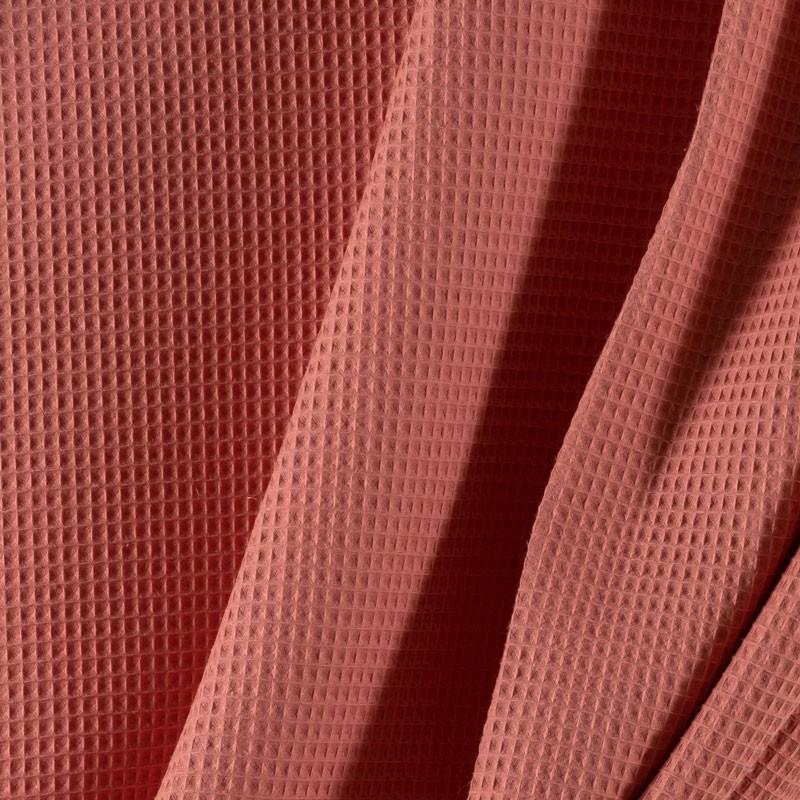 Tissu-coton-nid-abeille-vieux-rose