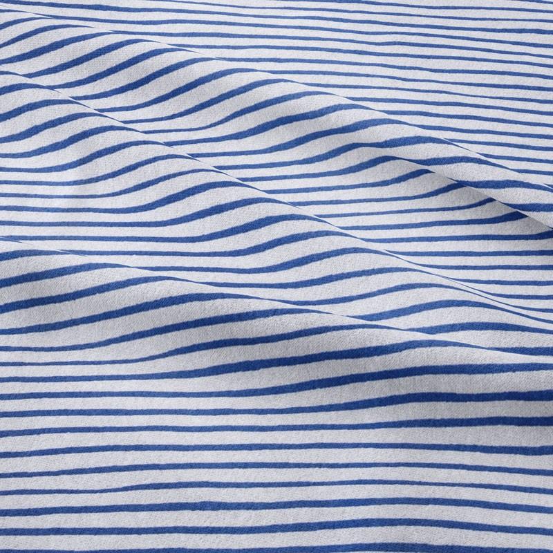 Tissu-jersey-ligne-imprimée-bleu