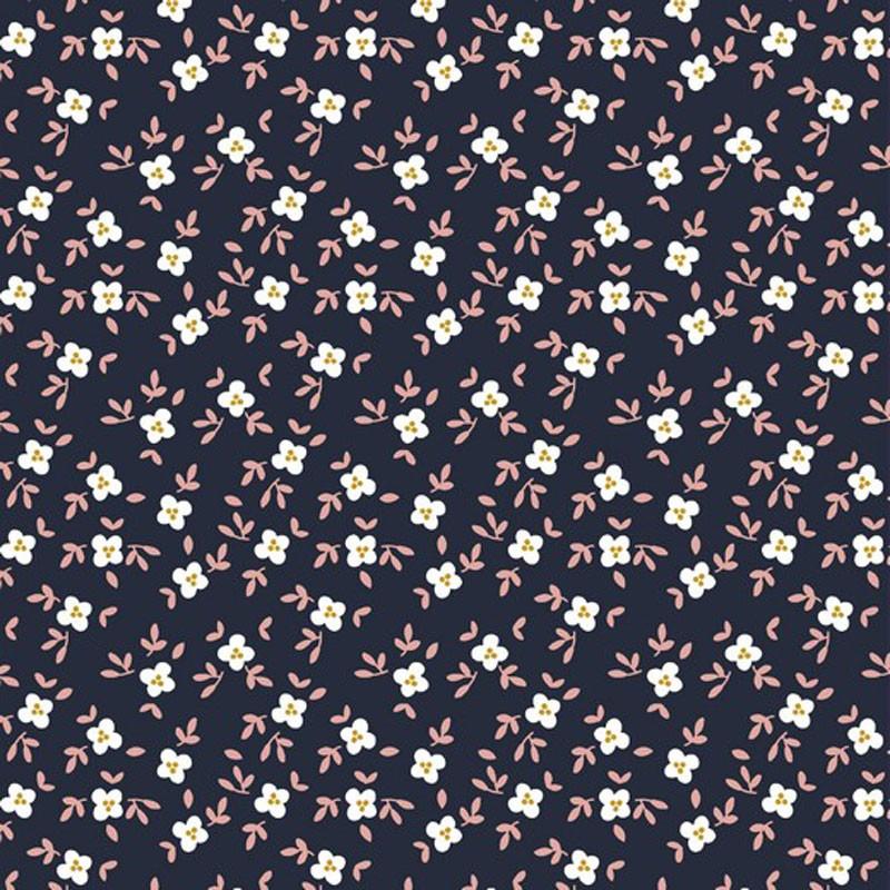 Tissu-jersey-bio-Gots-bleu-marine-fleuri