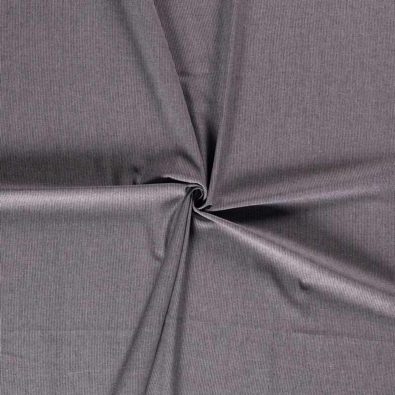 Tissu-toile-viscose-lin-rayé-chiné-noir-