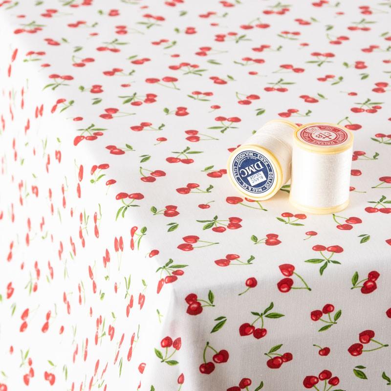 Tissu-coton-Enduit-blanc-cerise