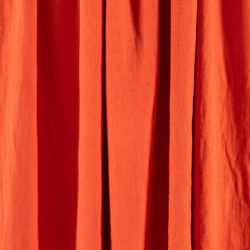 Tissu-lin-lavé-rouge-tomette-Washed-Linnen