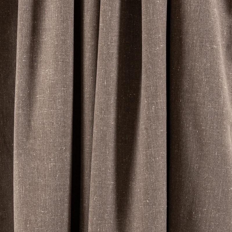 Tissu-chiné-aspect-lin-brun