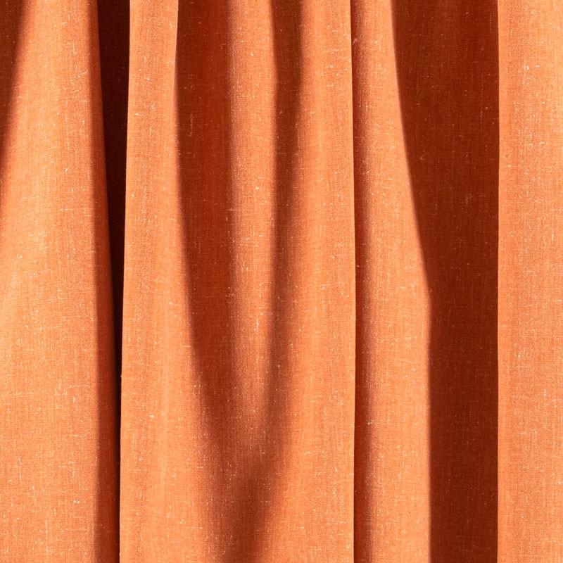 Tissu-chiné-aspect-lin-orange