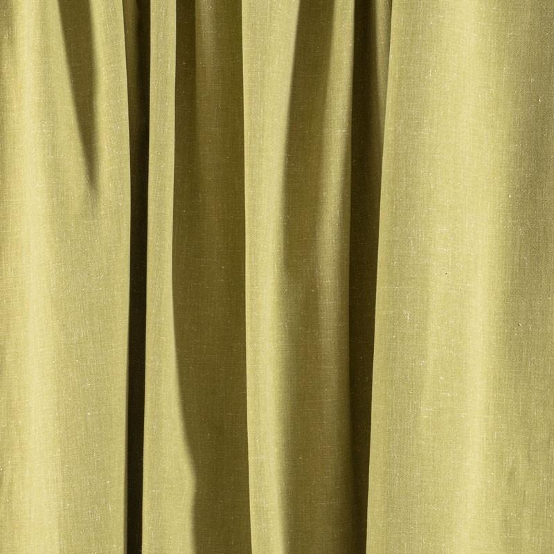 Tissu-chiné-aspect-lin-vert