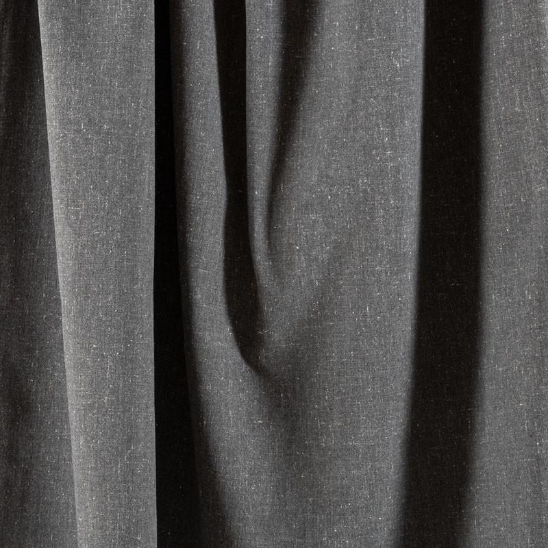 Tissu-chiné-aspect-lin-gris-foncé