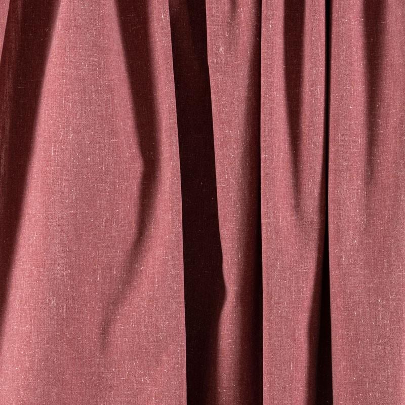 Tissu-chiné-aspect-lin-bordeaux