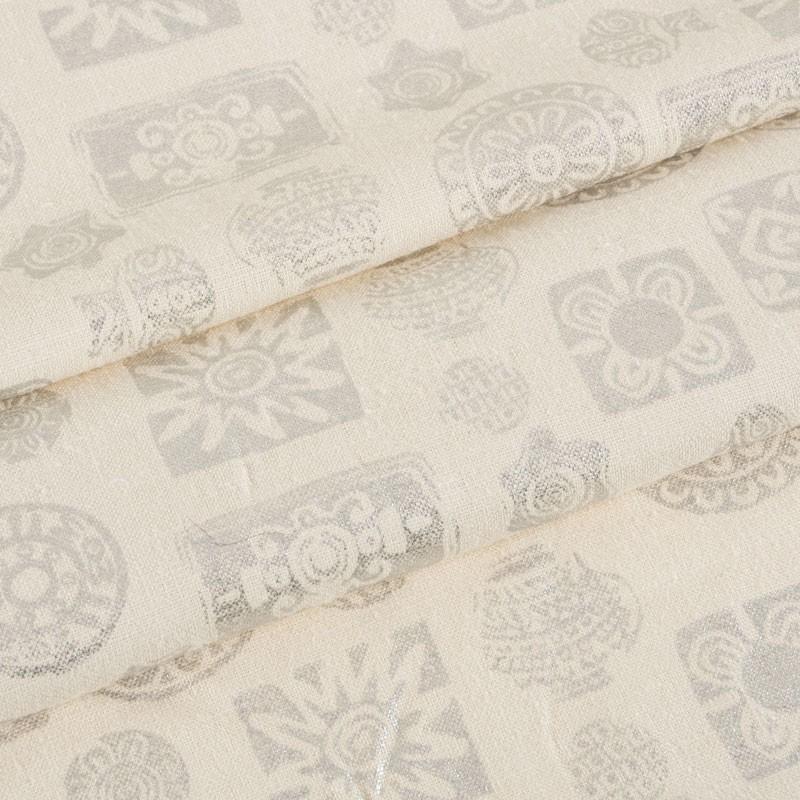 Coupe-5m10-lin-blanc-cassé-motif-ethnique-argenté